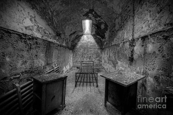 D800 Photograph - Eastern State Penitentiary Bw by Michael Ver Sprill