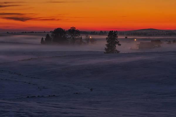 Photograph - Eastern Washington Winter Sunset by Mark Kiver