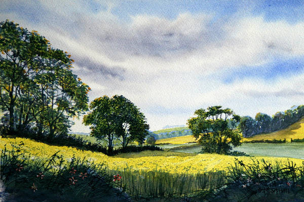 Painting - Eastfields From Woldgate by Glenn Marshall