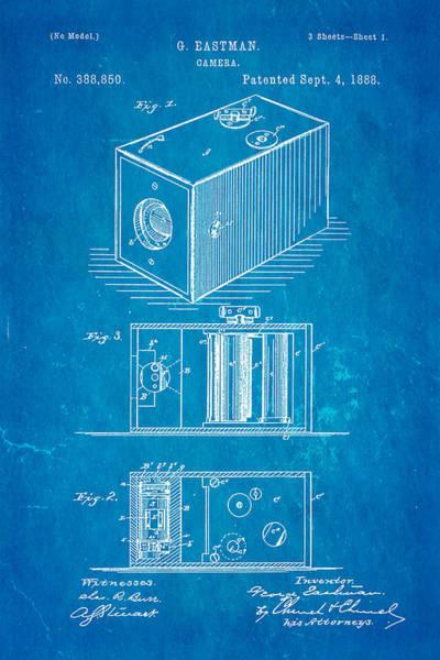 1888 Photograph - Eastman Camera Patent Art 1888 Blueprint by Ian Monk