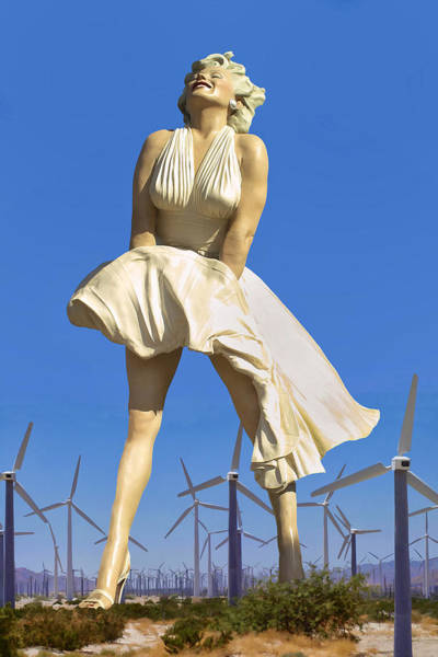 Marilyn Photograph - Cool Breeze Marilyn Palm Springs by William Dey