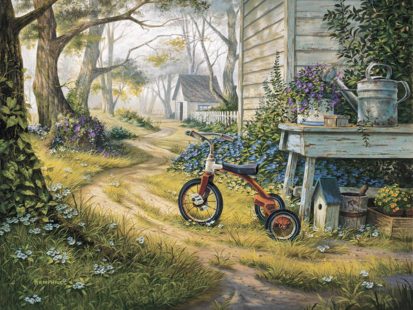 Child Painting - Easy Rider by Michael Humphries