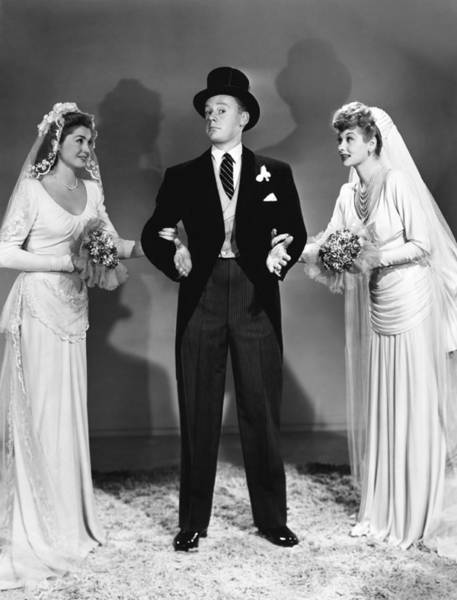 Van Johnson Photograph - Easy To Wed, From Left, Esther by Everett