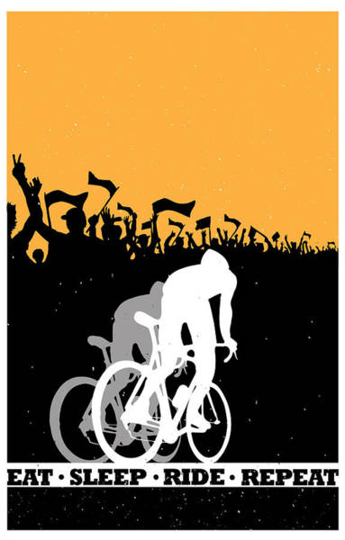 Event Wall Art - Painting - Eat Sleep Ride Repeat by Sassan Filsoof