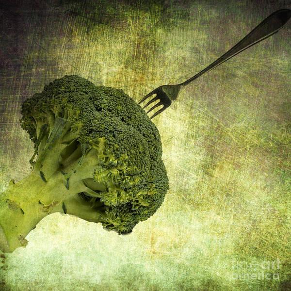 Fork Digital Art - Eat Your Broccoli by Patricia Hofmeester