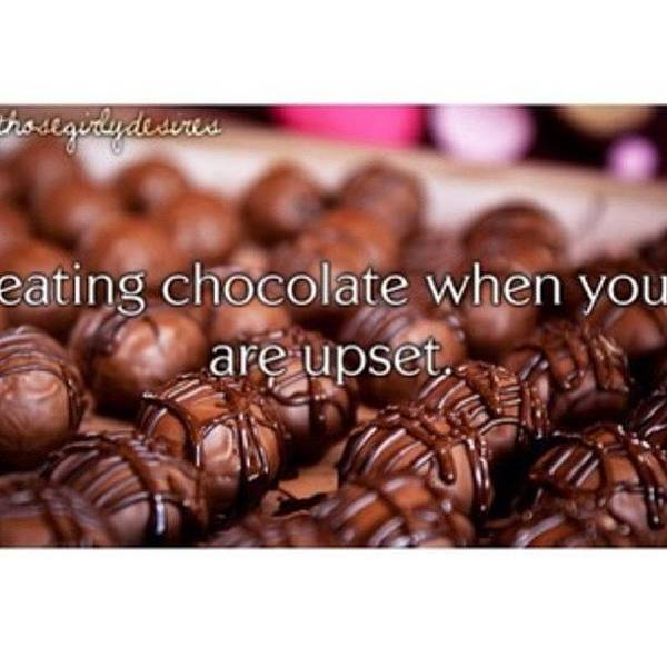 Wall Art - Photograph - Eating Chocolate When You Are Upset- I by Courtney Whetton