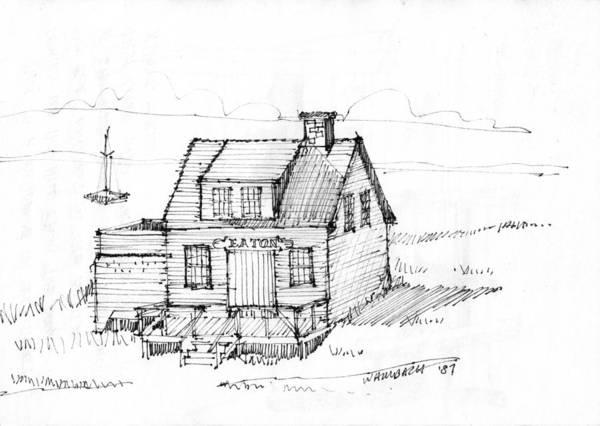 Drawing - Eatons Residence by Richard Wambach