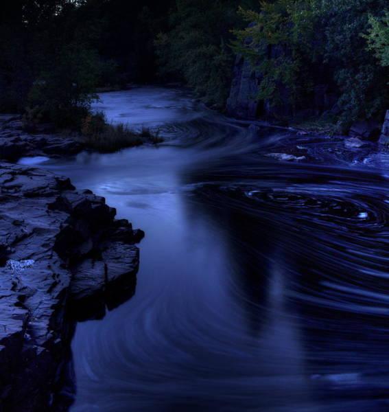 Photograph - Eau Claire Dells Park After Dark by Dale Kauzlaric