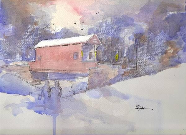 Covered Bridge Painting - Ebenezer Bridge  by Robert Yonke
