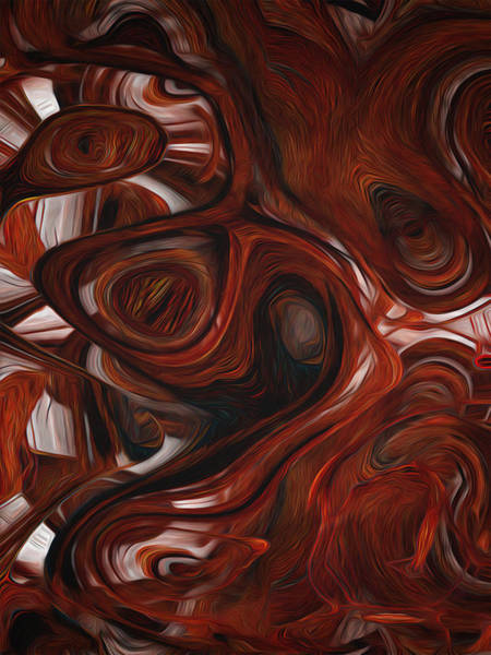 Computer Graphics Painting - Ebony Flow by Jack Zulli