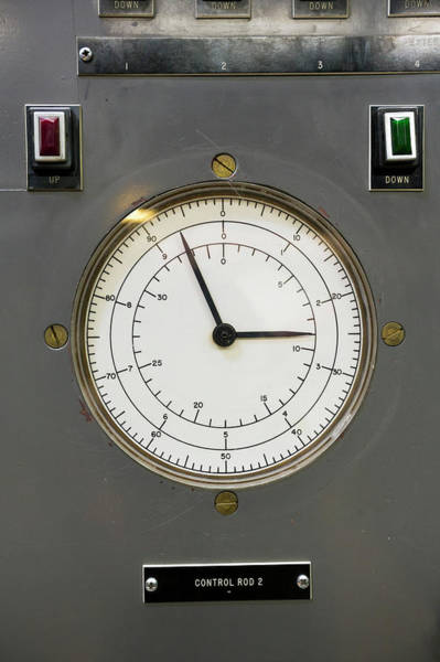 Dials Photograph - Ebr-i Nuclear Reactor Control Panel by Jim West