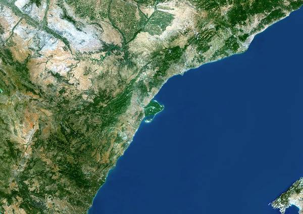 River Delta Photograph - Ebro River Delta by Planetobserver/science Photo Library