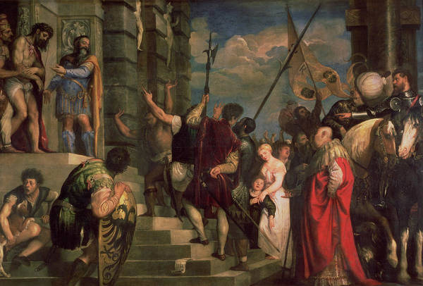 Shield Photograph - Ecce Homo, 1543 Oil On Canvas by Titian
