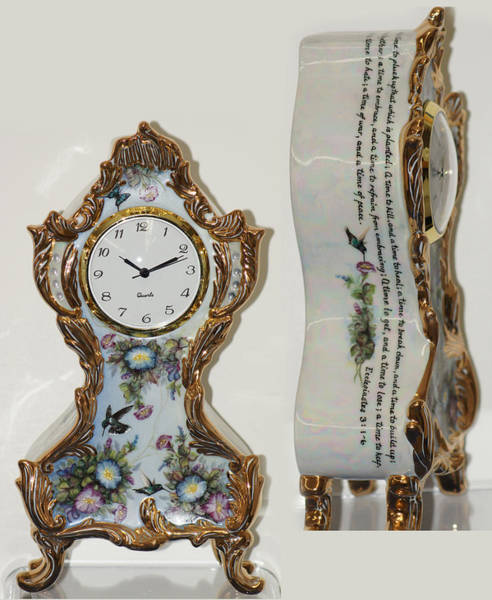 Painting - Ecclesiastical Clock by Shirley Heyn