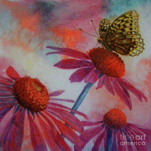 Painting - Echinacea Fritillaria by Lynn Quinn