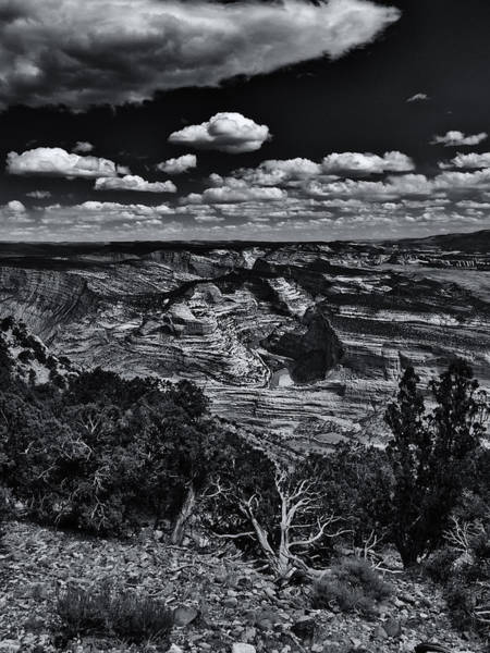 Dinosaur National Park Photograph - Echo Park From The Ridge Black And White by Joshua House