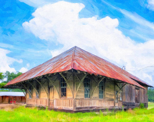 Photograph - Echoes Of A Lonesome Train Whistle - Lilly Georgia Depot by Mark E Tisdale