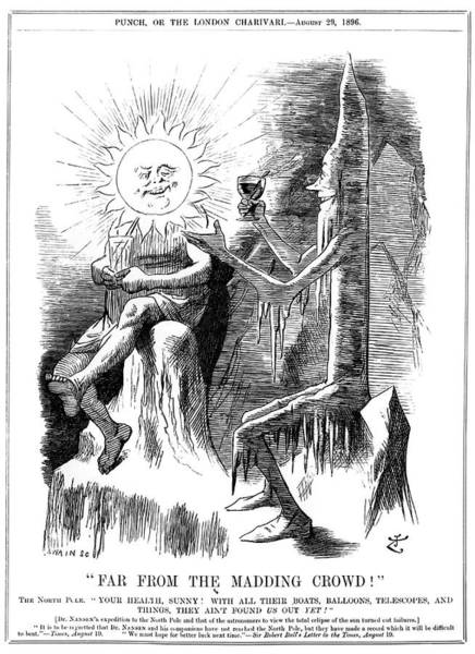 Parody Photograph - Eclipse Expedition Cartoon by Royal Astronomical Society/science Photo Library