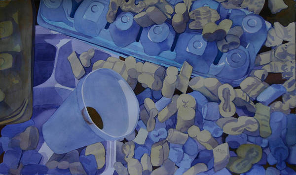 Recycling Painting - Eco 18 by Cathy Ehrler
