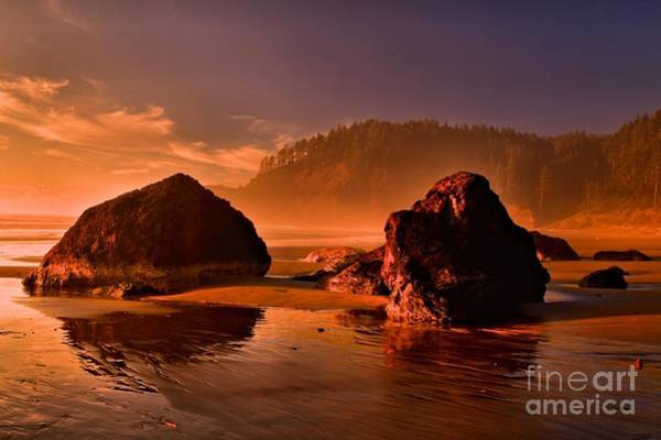 Photograph - Ecola Beach Sunset by Adam Jewell