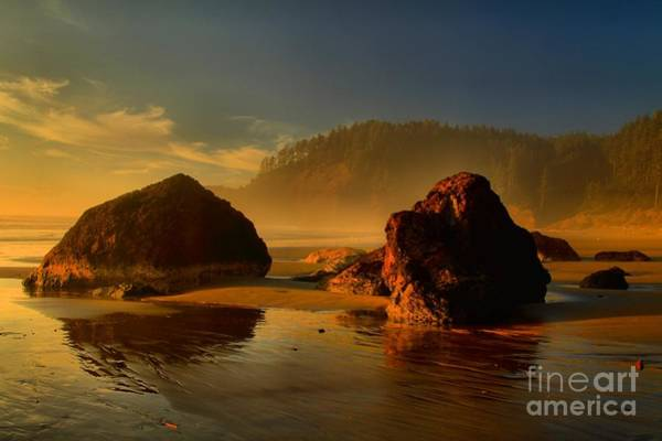 Photograph - Ecola Sunset Rocks by Adam Jewell