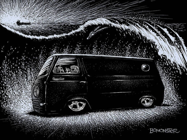 Wall Art - Drawing - Econoline Wave II by Bomonster