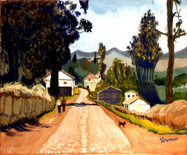 Guache Painting - Ecuadorian Sierra by Alicia Sotomayor