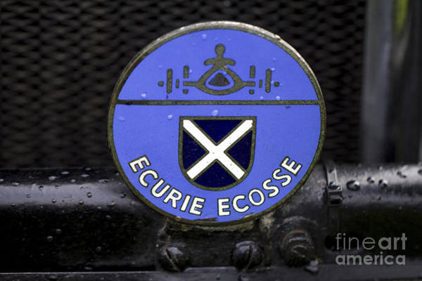 Photograph - Ecurie Ecosse Badge by Clare Bambers