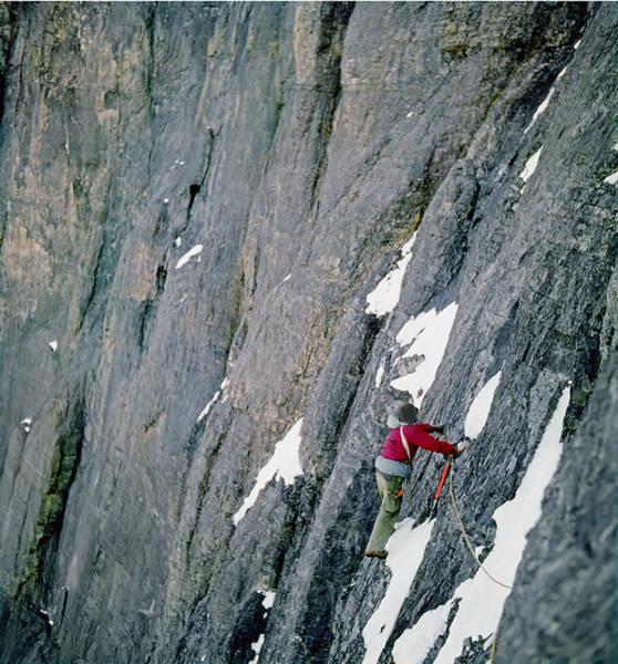 Photograph - T-103807-ed Cooper On Unclimbed Face by Ed  Cooper Photography