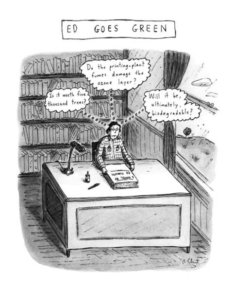 July 2nd Drawing - Ed Goes Green by Roz Chast