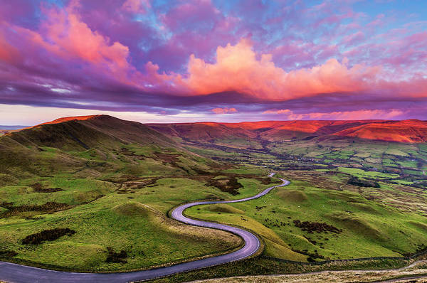 Peak District National Park Photograph - Edale Twisty Road, Peak District by John Finney Photography