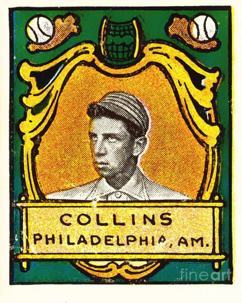 Photograph - Eddie Collins Philadelphia Athletics Baseball Card 1025 by Wingsdomain Art and Photography