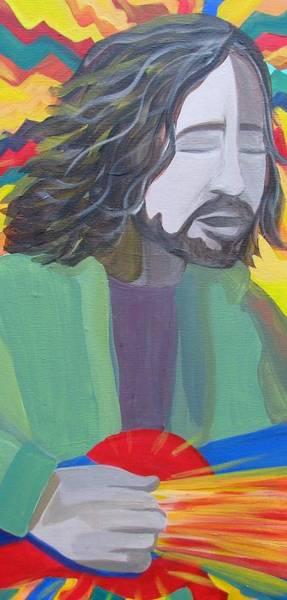 Pearl Jam Painting - Eddie by Kelly Simpson
