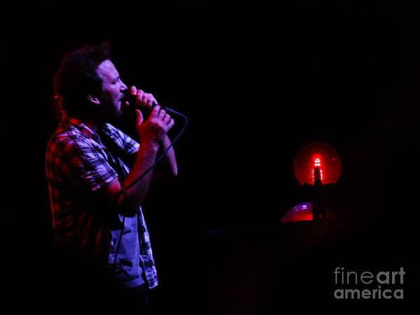 Pearl Jam Photograph - Eddie Vedder - Oakland 2013 by Daniel Taylor