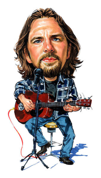 Laughter Wall Art - Painting - Eddie Vedder by Art