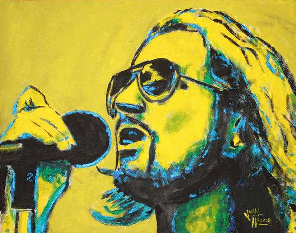 Pearl Jam Painting - Eddie Vedder by John Hooser