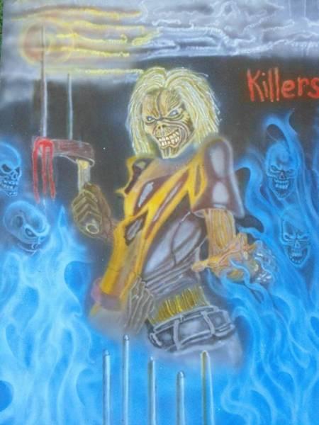 Iron Maiden Wall Art - Painting - Eddy Iron  Maiden  by Stuart Meek