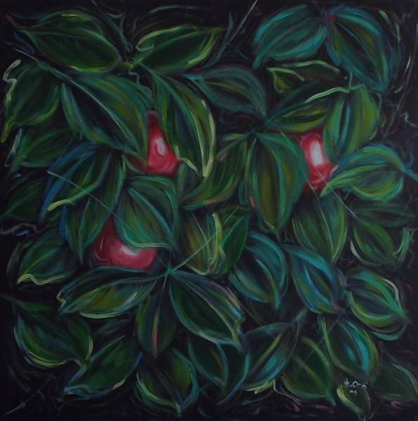 Manzana Wall Art - Painting - Eden 2 by Barney  Ortiz