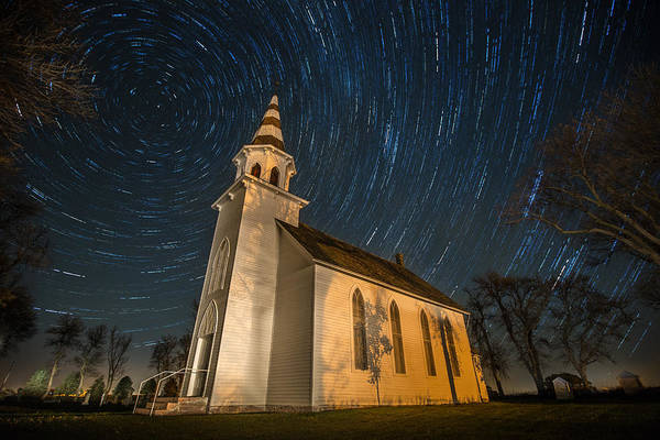 Star Trails Photograph - Eden Trails by Aaron J Groen
