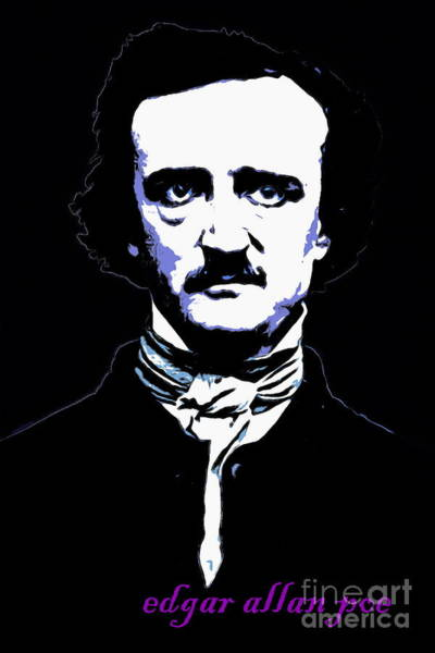 Photograph - Edgar Allan Poe 20140914poster V2 by Wingsdomain Art and Photography