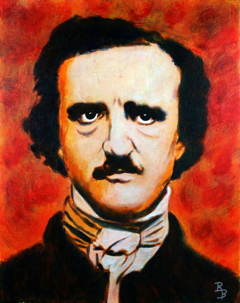 Painting - Edgar Allan Poe by Bob Baker