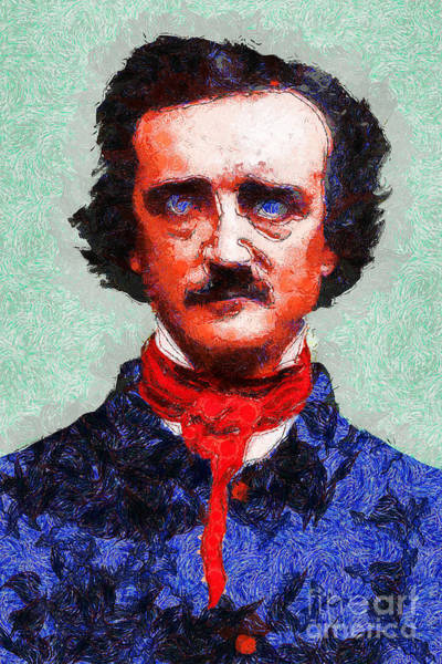 Photograph - Edgar Allan Poe Inspired By Van Gogh 20140921 by Wingsdomain Art and Photography