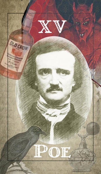 Tarot Deck Digital Art - Edgar Allan Poe The Devil Tarot by Two Sylvias Press