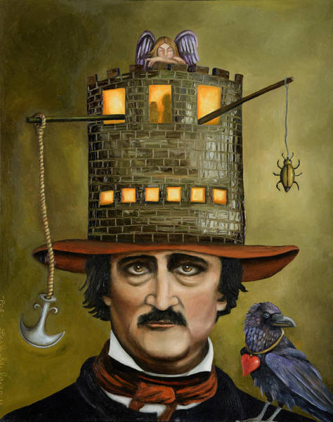 Wall Art - Painting - Edgar Allan Poe Updated Image by Leah Saulnier The Painting Maniac