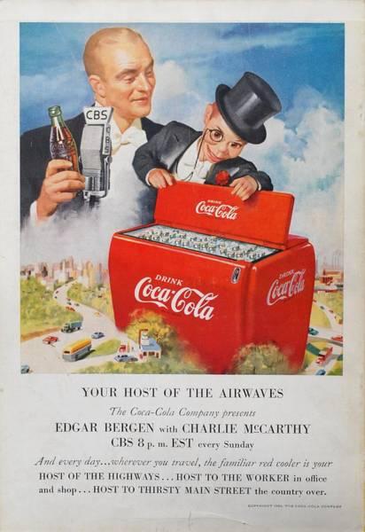 Dummy Digital Art - Edgar Bergen Coca Cola by Georgia Fowler
