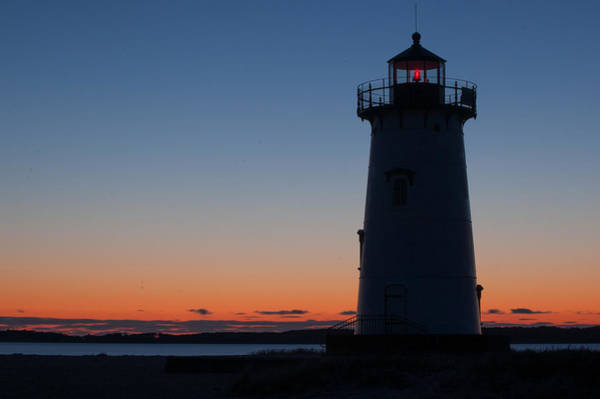 Photograph - Edgartown Light At Sunrise by Steve Myrick