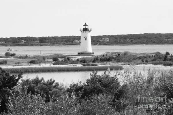 Photograph - Edgartown Lighthouse - Black And White by Carol Groenen