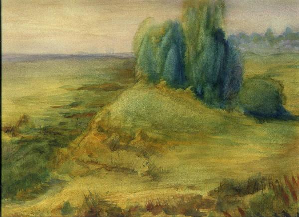 Painting - Edge Of The Marsh 2 by Peter Senesac