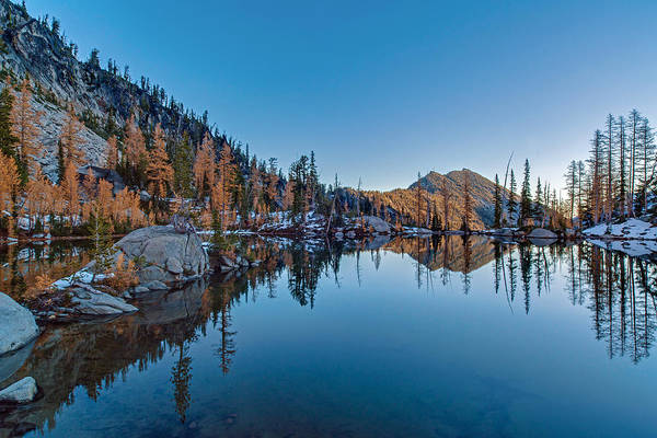 Alpine Photograph - Edge Of The Tarn by Mike Reid