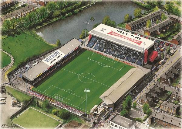 Wall Art - Painting - Edgeley Park - Stockport County by Kevin Fletcher